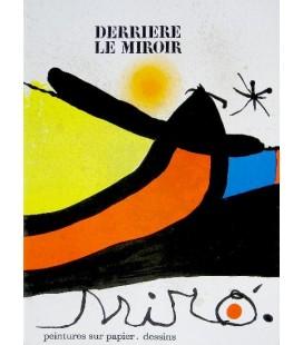 Derrière Le Miroir N° 193 - 194. Miro Peintures sur papier, dessins.