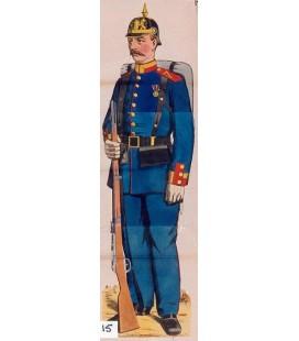 Fantassin bavarois, Bavarian infantryman.